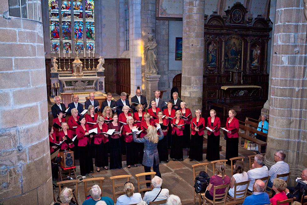 Tourne po Bretanii - Francja 2014 r. Koncert w katedrze w Lannion