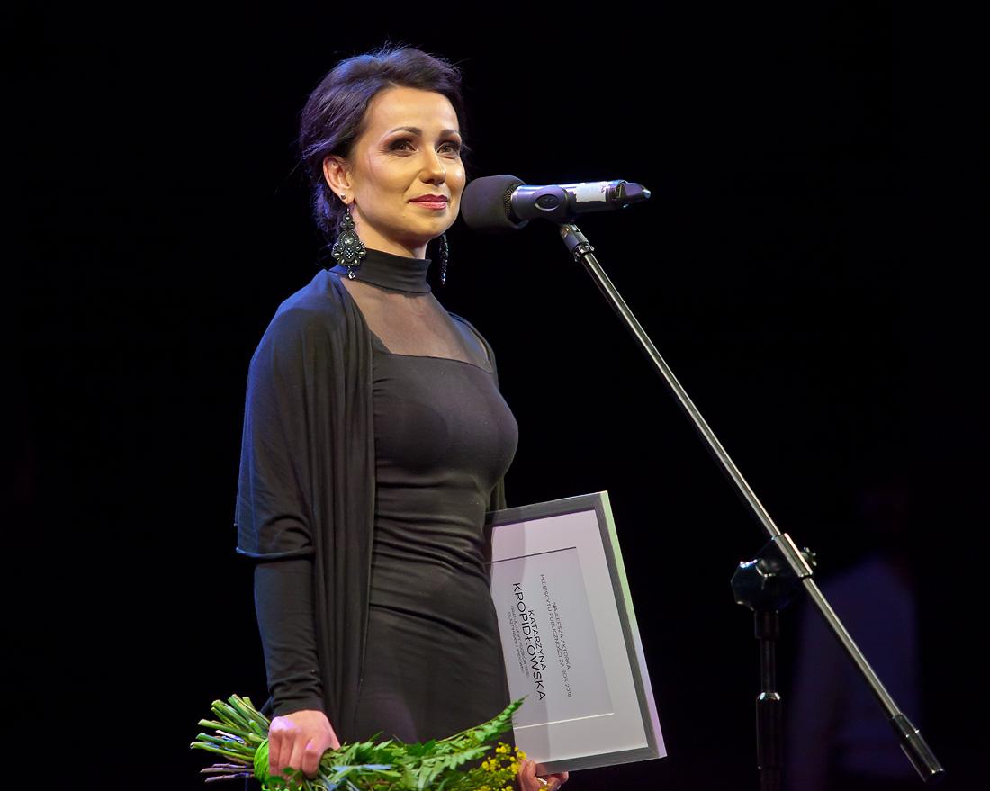 Nagroda publiczności w plebiscycie na najpopularniejszą aktorkę: Katarzyna Kropidłowska