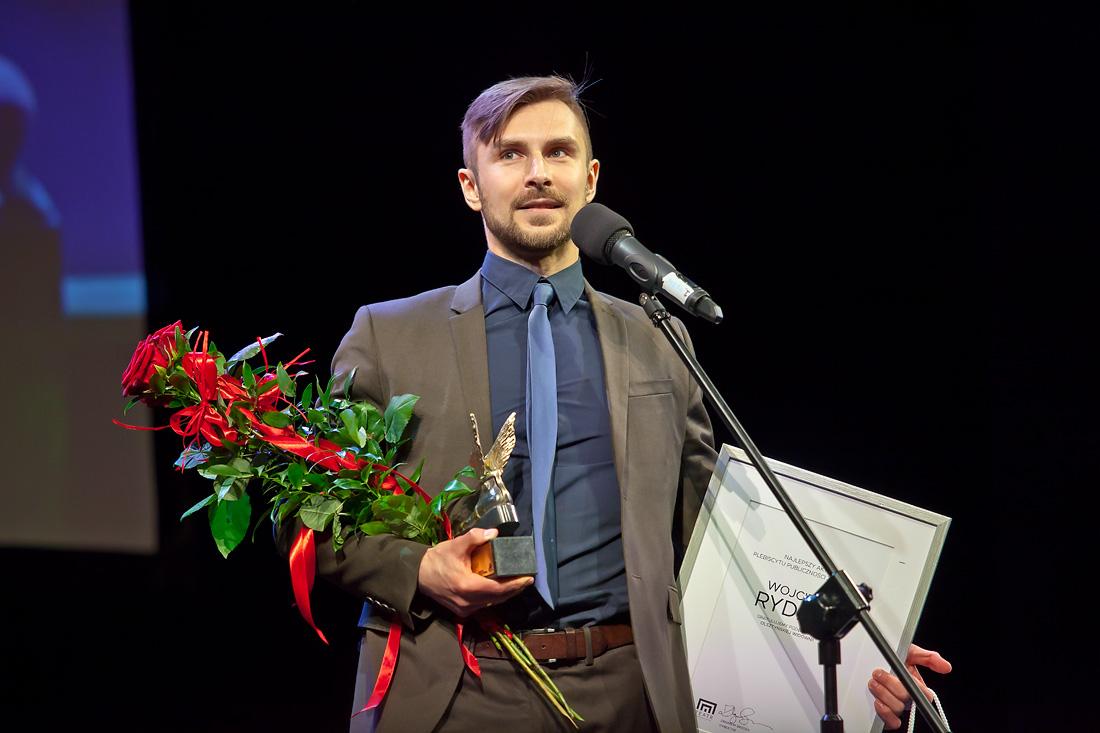 Nagroda publiczności w plebiscycie na najpopularniejszego aktora: Wojciech Rydzio